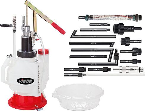 VIGOR Öl Einfüllgerät mit Adapter Satz V4385N Anzahl Werkzeuge: 18