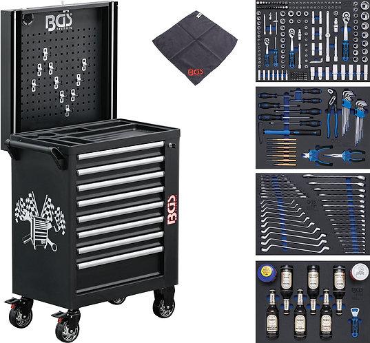 Werkstattwagen 8 Schubladen mit 263 Werkzeugen BGS-4106
