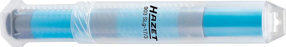 """HAZET Kraft Steckschlüssel-Einsatz Sechskant 903SLG-17/3 1/2"""" 3x 17 mm"""