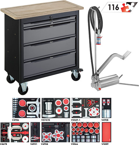 VIGOR Mobile Werkbank SeriesXL mit  Sortiment V7026-1 Anzahl Werkzeuge: 13