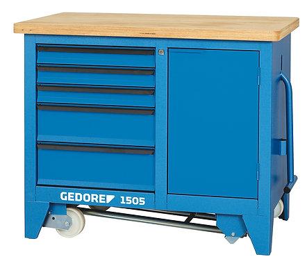 GEDORE Rollwerkbank 5 Schubladen und Staufach 900x1100x652mm 1505