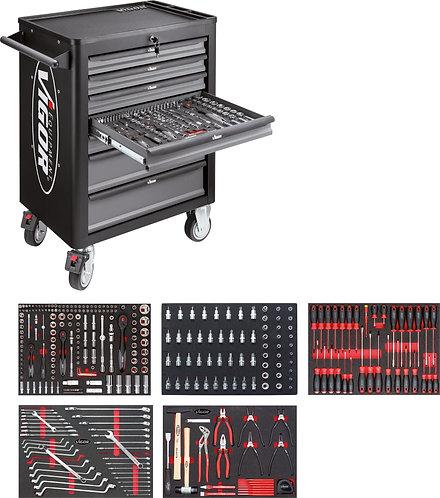 VIGOR Werkstattwagen VIGOR 1000 mit Sortiment V4560 Anzahl Werkzeuge: 344