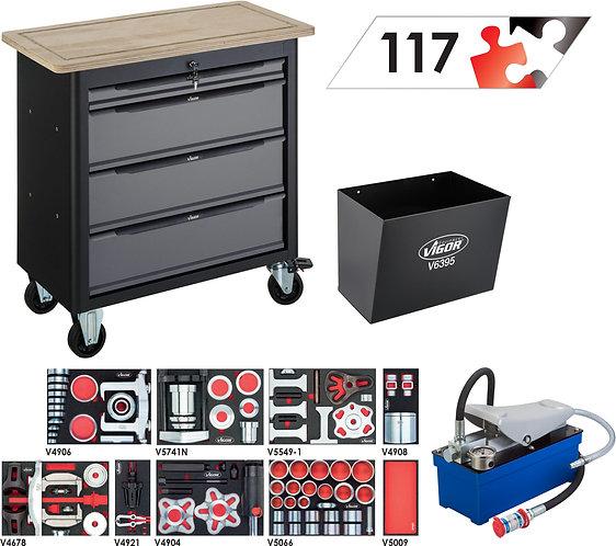 VIGOR Mobile Werkbank SeriesXL mit  Sortiment V7026-2 Anzahl Werkzeuge: 117