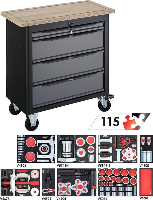 VIGOR Mobile Werkbank SeriesXL mit  Sortiment V7026 Anzahl Werkzeuge: 38