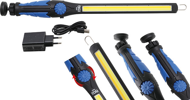 COB-LED-Arbeits-Handleuchte LED Kaltweiß & Gelb ultra flach BGS-6660