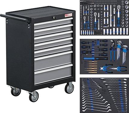 Werkstattwagen 7 Schubladen mit 263 Werkzeugen BGS-4062