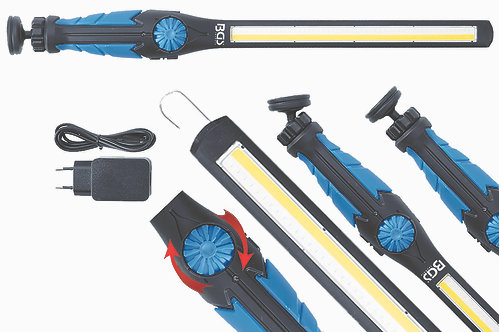 COB-LED / UV-Arbeits-Handleuchte ultra flach BGS-9767
