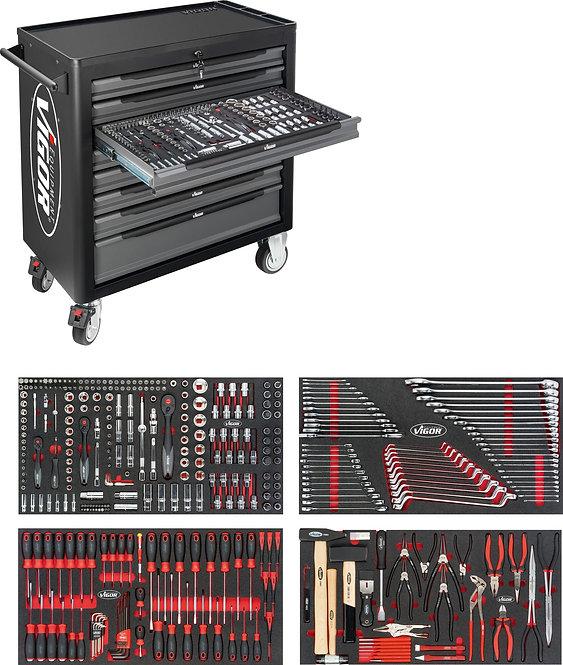 VIGORV45421000 XL Werkstattwagen Anzahl Werkzeuge: 375