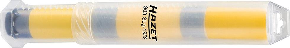 """HAZET Kraft Steckschlüssel-Einsatz Sechskant 903SLG-19/3 1/2"""" 3x 19 mm"""