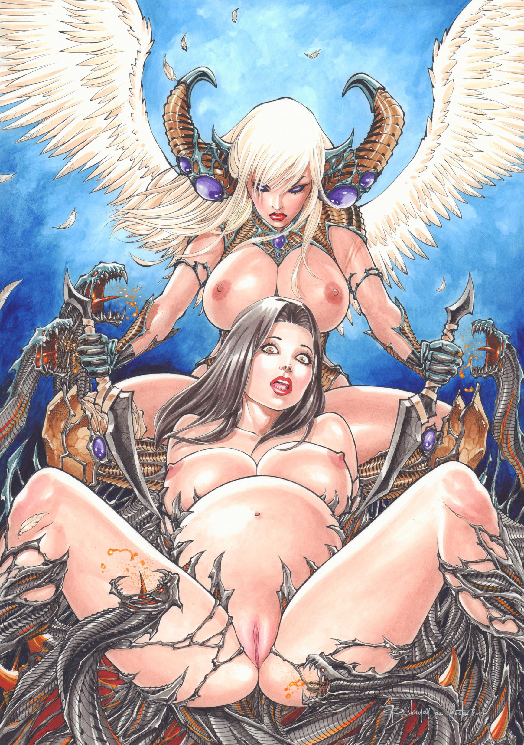 Angelus and witchblade vs Darkiness