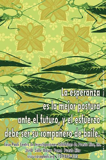 Cartel  LAESPERANZA del artista Jose A.O