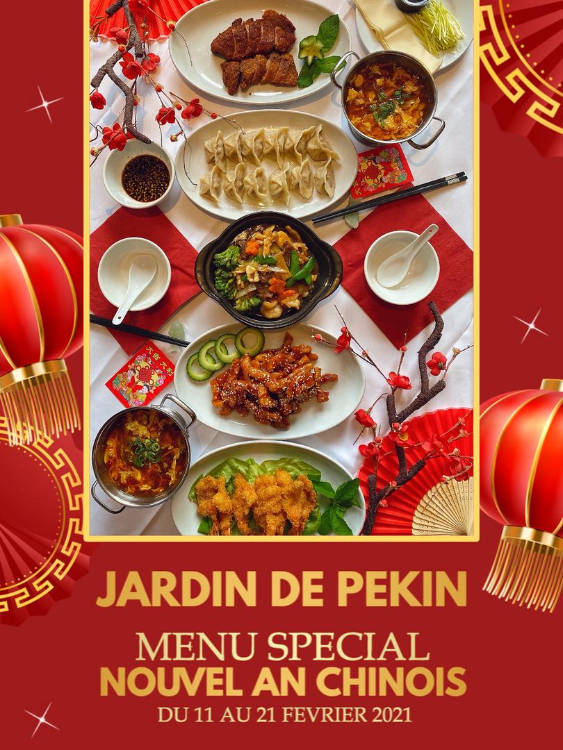 Jardin de Pékin - Menu Nouvel An Chinois