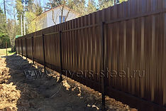 Забор на винтовых столбах АВЕРС