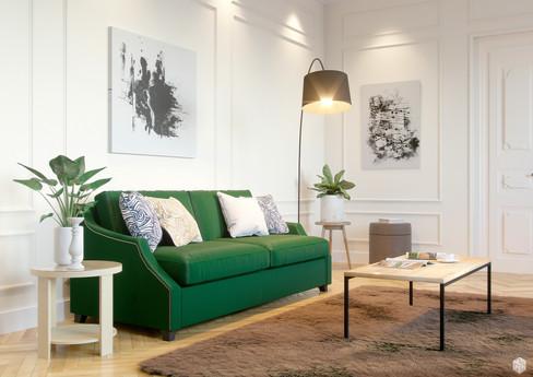 Визуализация мебели в интерьере для сайт