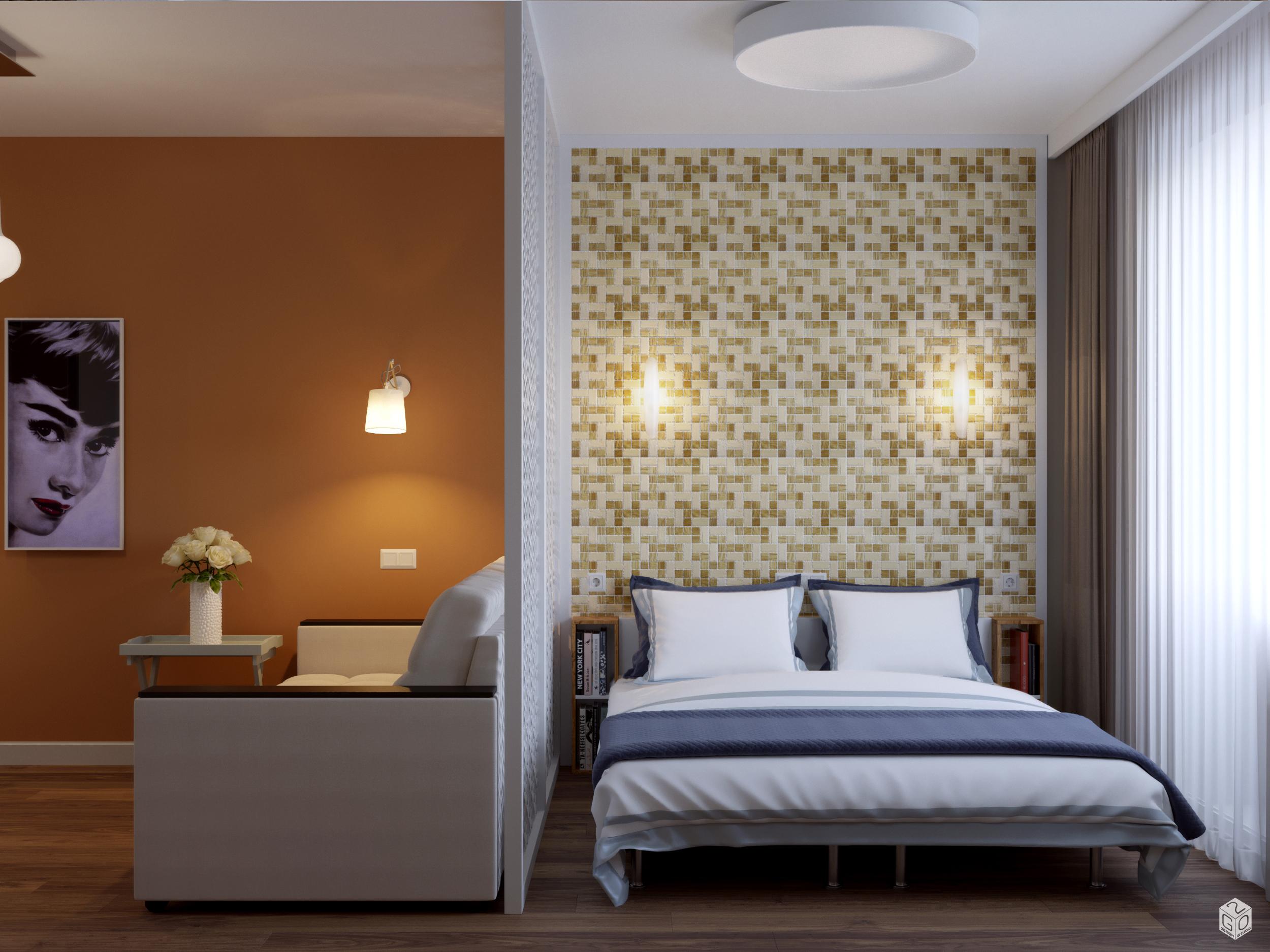 Гостиная - спальня в современном стиле