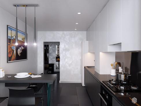 Кухня для мужчины в стиле минимализм