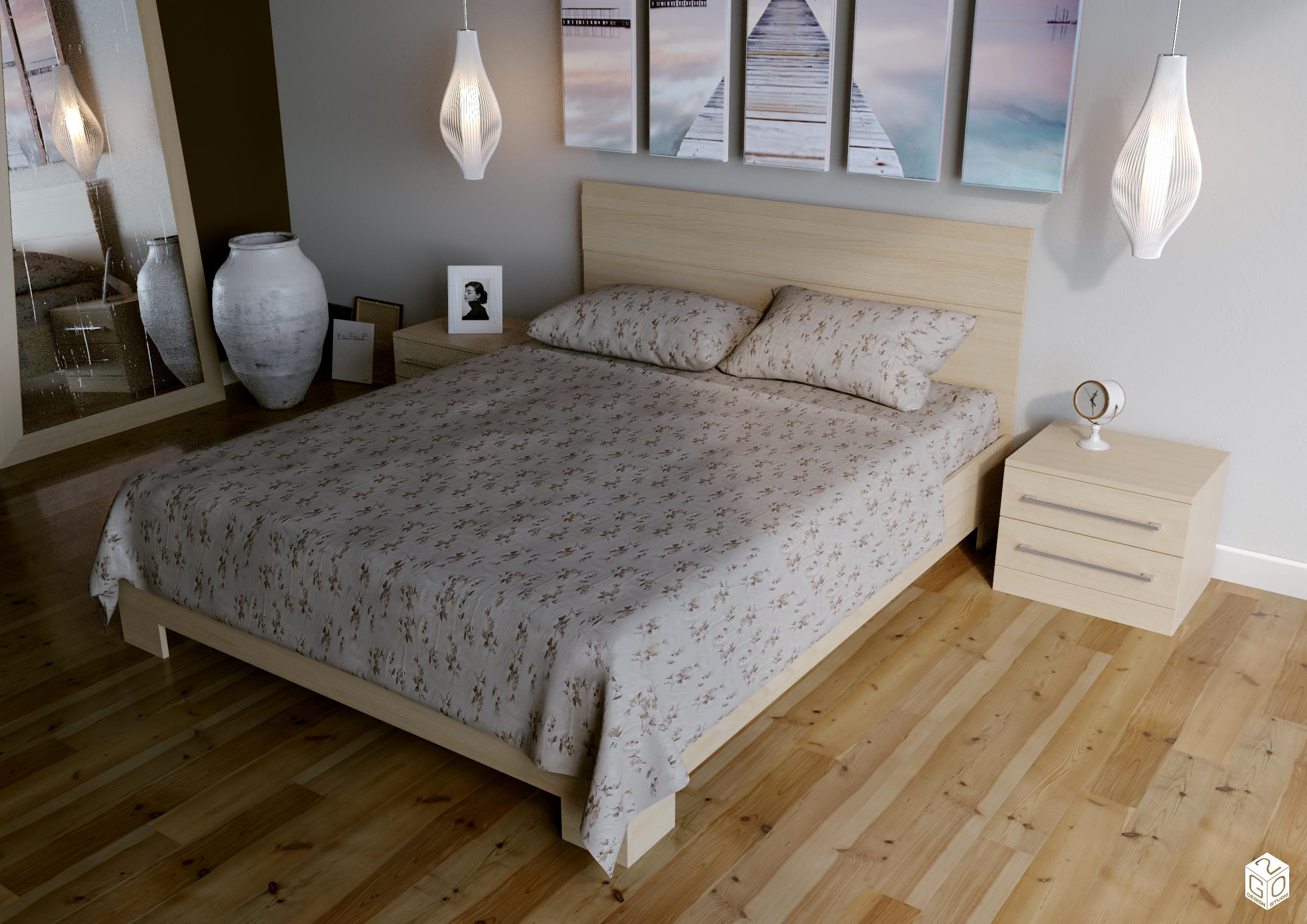 Моделинг и визуализация постельного белья