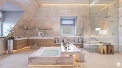 Визуализация ванной комнаты в стиле модерн
