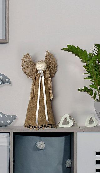 Szydełkowy anioł - brąz