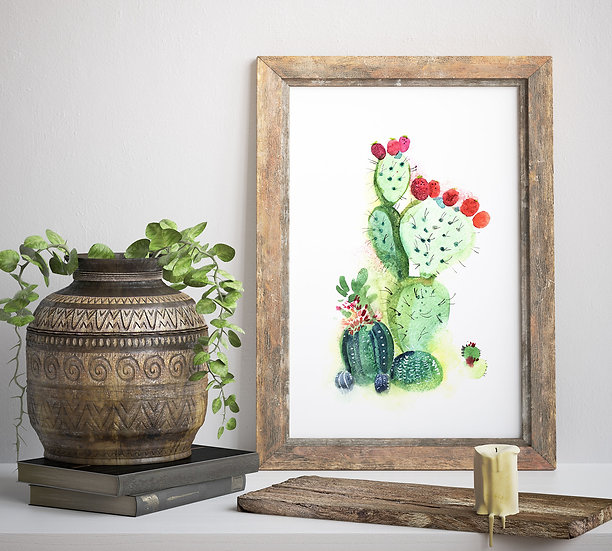 "Plakat ""Kaktusy"""