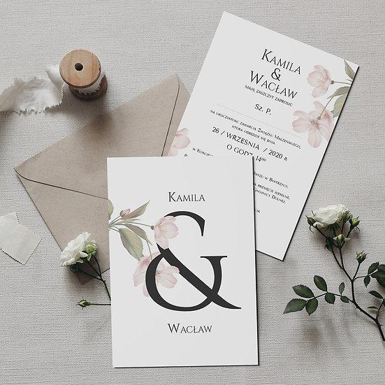 Zaproszenie w stylu romantycznym