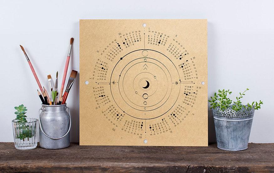Kalendarz z fazami księżyca