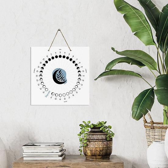Kalendarz mandala z fazami księżyca