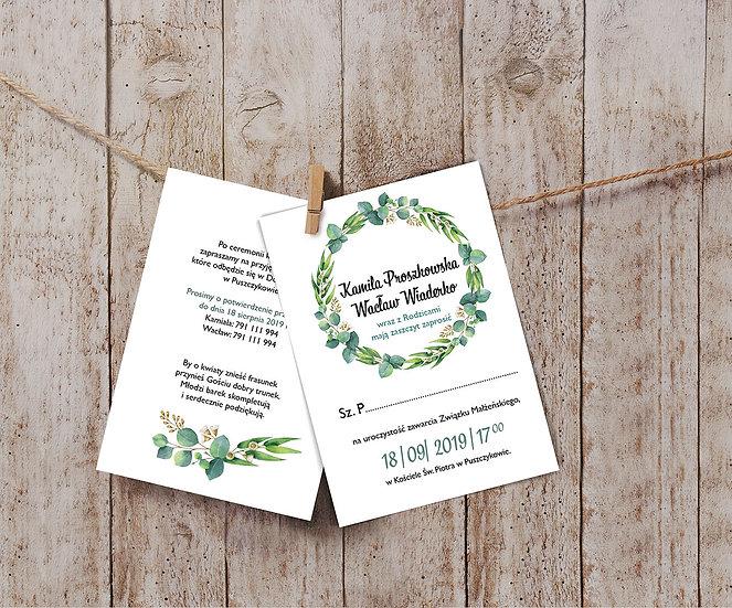 Zaproszenia ślubne eukaliptus #2