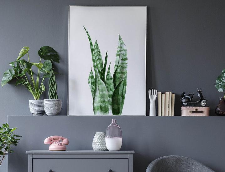"""Plakat botaniczny """"Liście"""""""
