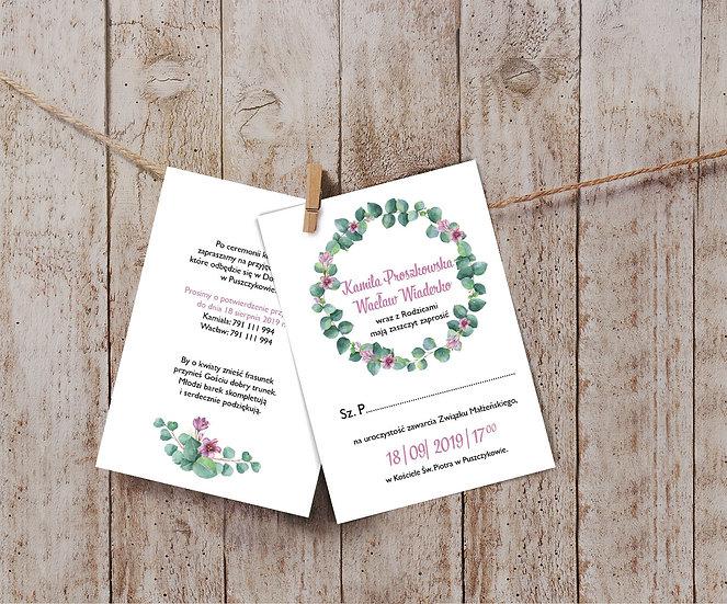 Zaproszenia ślubne eukaliptus #3