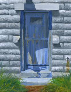 Untitled (WIP, Blue door at 1:30 pm)