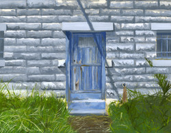 Untitled (WIP, Blue door at 2:00 pm)