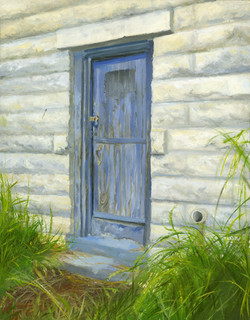 Untitled (WIP, Blue Door at 4 pm)