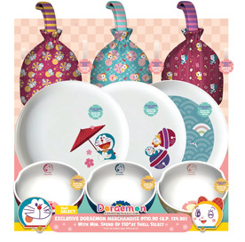 Doraemon Plates, Bowls, and Festive Carriers