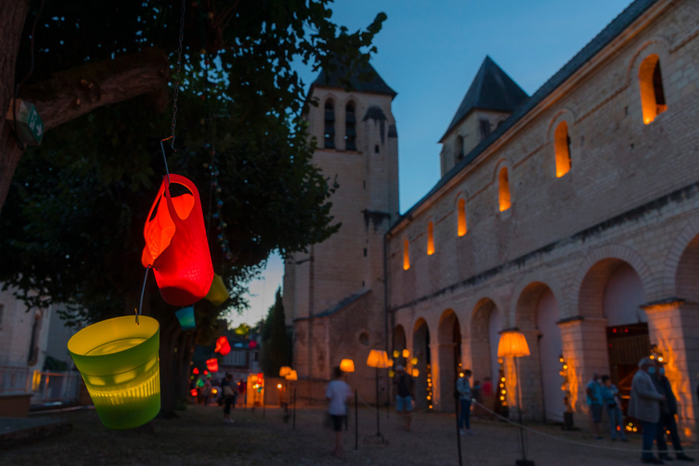 1001 lumieres  -collégiale Saint Mexme Chinon 2020