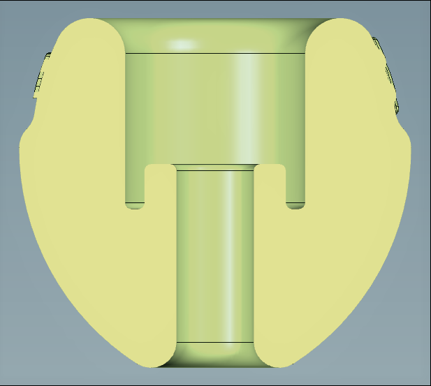 Section view of the Molded Part - Version 1