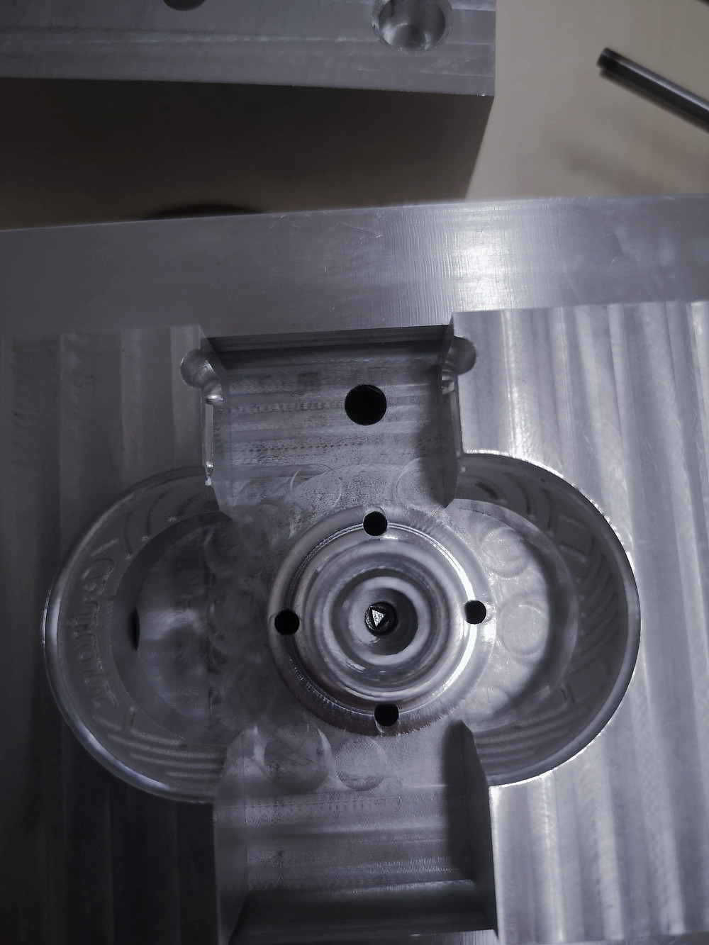 Mold Modification Screw from the inside