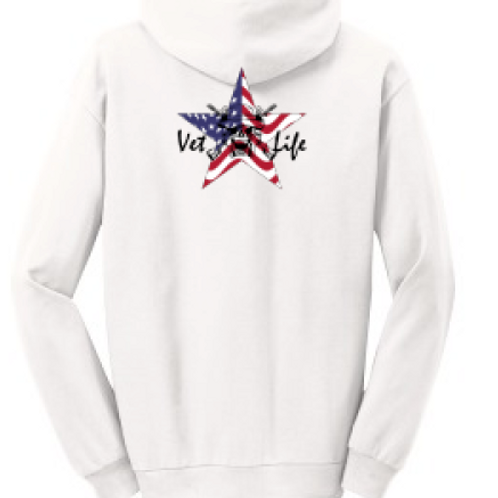 Vet*Life Sweatshirt with logo on front and back