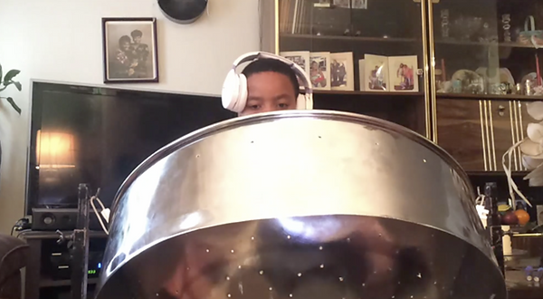 Steel drum Brooklyn student - Lean on me