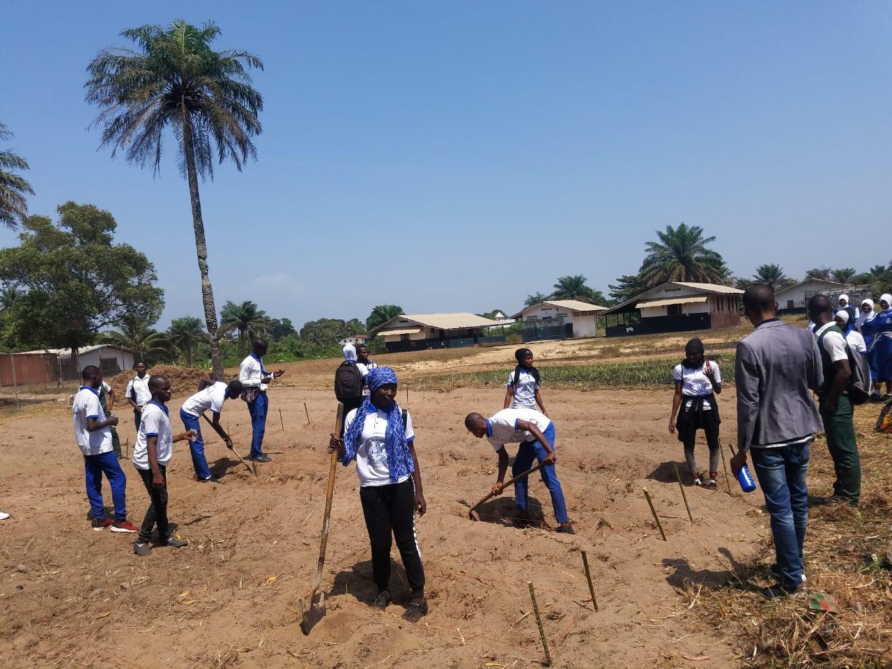 Liberian students' experimental field