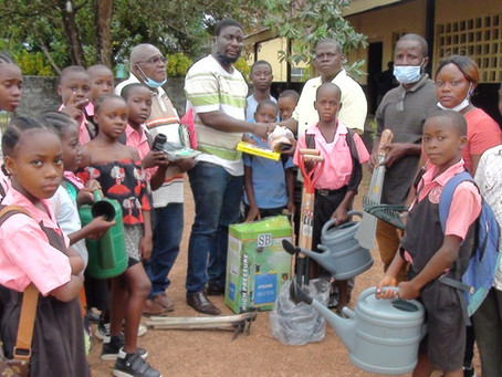 OPEN - Liberia on February 17 and 19, 2021 made delivery of Agriculture Tools and Seeds to 7 Schools