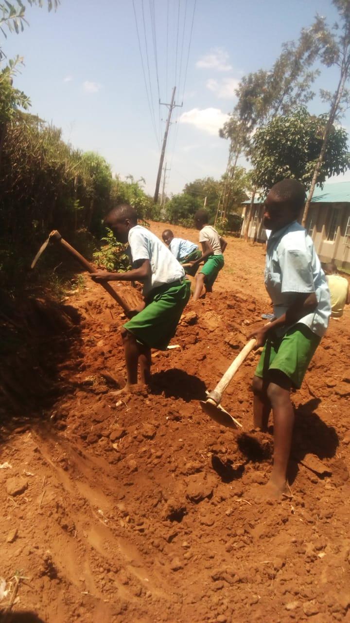 Butonge Primary School students