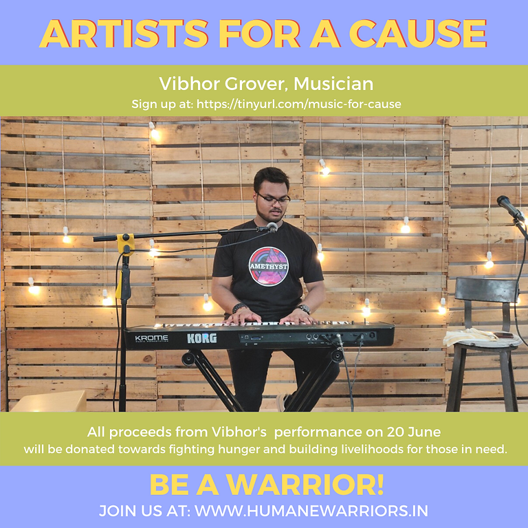 RAISED 11,000 INR! Music for a cause with Vibhor
