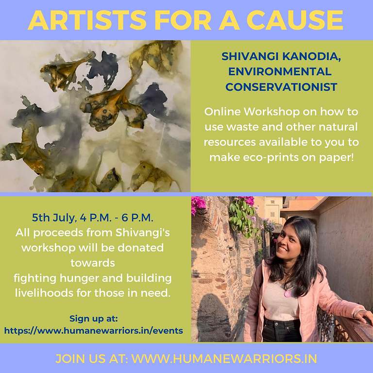 RAISED 2,400 INR! Artists for a Cause with Shivangi Kanodia