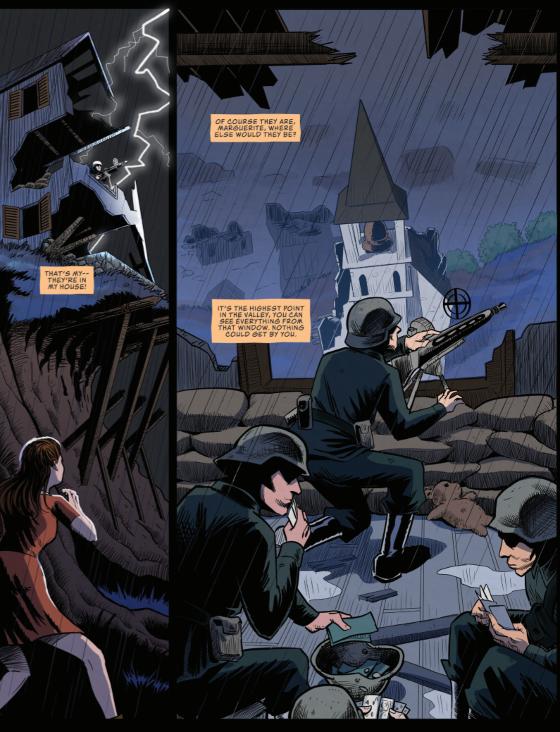 Marquerite vs. the Occupation, page 3, Resistance Comics, Luzar/Quevedo
