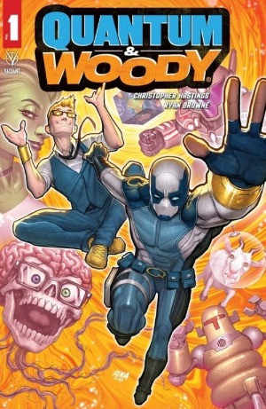Quantum and Woody, issue #1, cover, Valiant Entertainment, David Nakayama