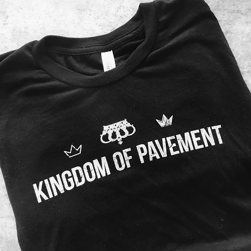 Kingdom of Pavement Unisex, Supersoft Black T-Shirt