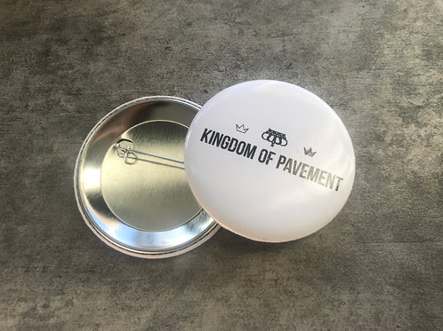 Kingdom of Pavement White Button