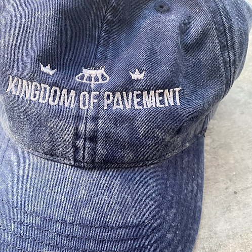 Kingdom of Pavement Blue Stonewashed Denim Baseball Cap