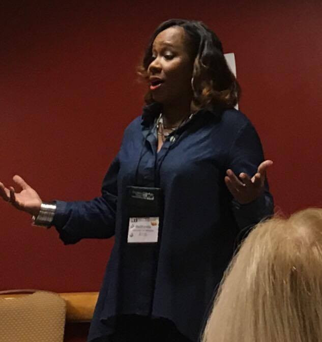 """Author, journalist, and all-round fabulous lady, ReShonda Tate Billingsly, led us in the """"Get Media Coverage Now"""" workshop. She's one of the most motivating and interactive speakers I've ever heard!"""